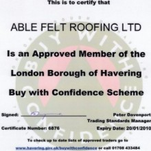 Felt Roofing In Havering